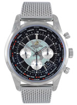 Silver Breitling Chronograph Watch