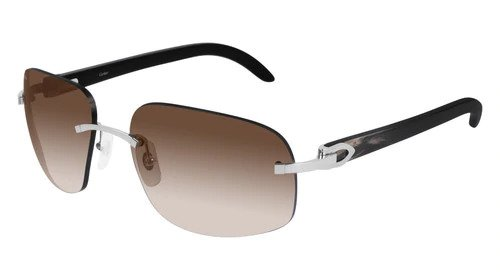 Cartier sunglasses with brown lenses