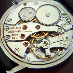 Inside View of a Longines Luxury Watch