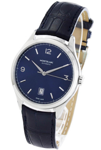 Luxury Montblanc Watch with Blue Watchface