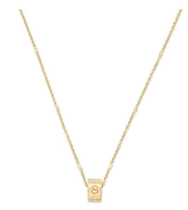gucci icon blooms yellow gold necklace