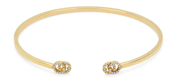 gucci yellow gold diamond cuff bracelet