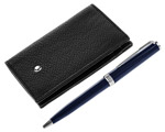 Black Resin Mont Blanc Pen With Pouch