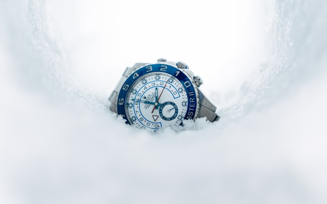 A luxury, water-resistant watch